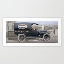 Studebaker Delivery Truck – Canadian Consolidated Rubber Co. Ltd – Vancouver, 1918 Art Print
