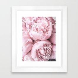 Lush Peony Flower Framed Art Print