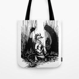 Silent Night Horror Tote Bag