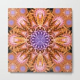 Nucleus Mandala Metal Print