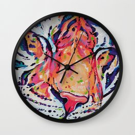 A moment of peace - Tiger painting Wall Clock