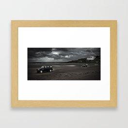 LANDROVER'S ACROSS BEACH Framed Art Print