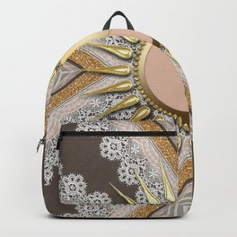 Sunny Yin Yang Gold Lace Backpack