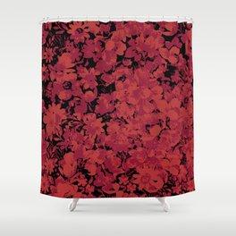 Carmine Blue Shower Curtain