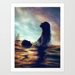 Sea In Our Blood Art Print