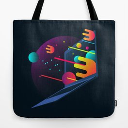 Neon Illustration Tote Bag