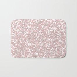 crisscross-pink Bath Mat