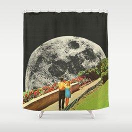 Moonwalk love Shower Curtain