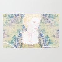 marie antoinette Area & Throw Rugs featuring MARIE ANTOINETTE by Itxaso Beistegui Illustrations