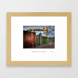 Harland & Wolfe,Belfast,ireland,northern ireland Framed Art Print