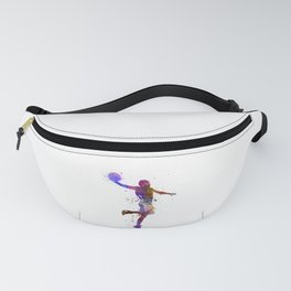 basketball player one hand slam dunk silhouette Fanny Pack