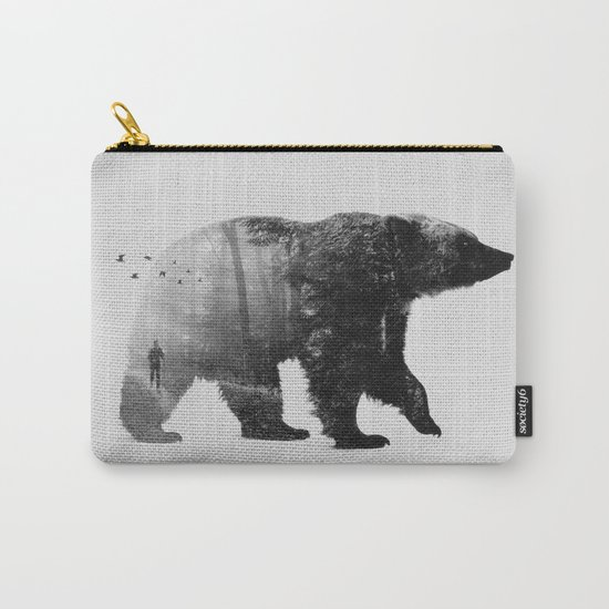 Into the Wild b&w Carry-All Pouch