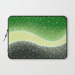 Aromantic Pride Flag Galaxy Laptop Sleeve
