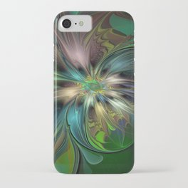 Colorful Abstract Fractal Art iPhone Case