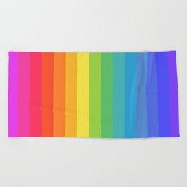 Solid Rainbow Beach Towel