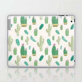 Ivory pastel blush green pink cactus floral Laptop & iPad Skin