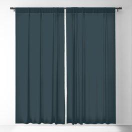 Sherwin Williams Trending Colors of 2019 Dark Night (Dark Aqua Blue) SW 6237 Solid Color Blackout Curtain