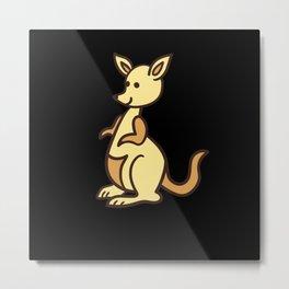 Kangaroo kangaroos cute gift Metal Print
