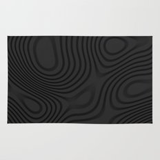 Organic Abstract 01 BLACK Rug