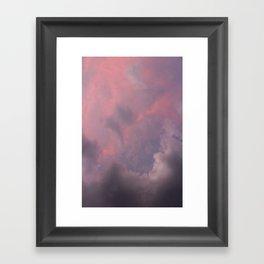 nubes moradas Framed Art Print