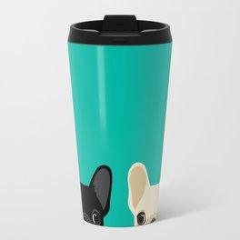 2 French Bulldogs Travel Mug