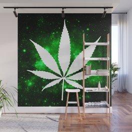 Weed : High Times Green Galaxy Wall Mural