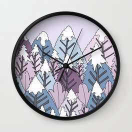 A cold winter's forest Wall Clock
