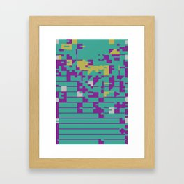 Abstract 8 Bit Art Framed Art Print