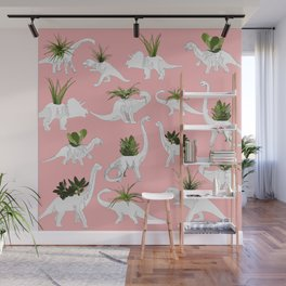 Dinosaurs & Succulents Wall Mural