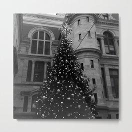 Philadelphia City Hall Christmas Tree Metal Print