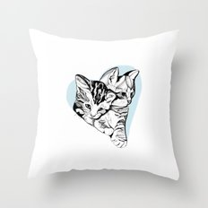 Kitten Love Throw Pillow