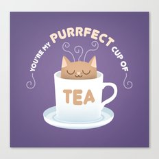 You're my Purrfect Cup of Tea Cat Canvas Print