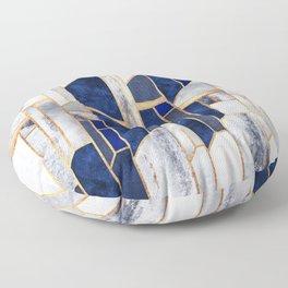 Blue Winter Sky Floor Pillow