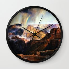 The Chasm of the Colorado by Thomas Moran Wall Clock