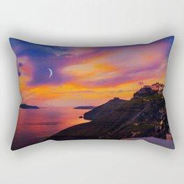 Santorini,Fira,Sunset Rectangular Pillow