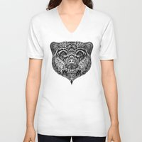 """ethnic V-neck T-shirts featuring """"Ethnic Bear"""" by beart24"""
