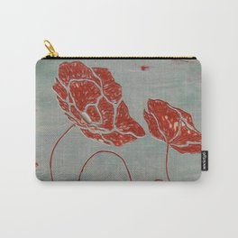 Red Poppy Two Carry-All Pouch