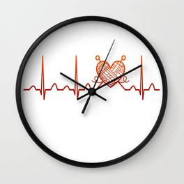 Knitting Heartbeat Wall Clock