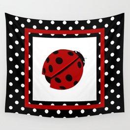 Ladybug And Polkadots Wall Tapestry