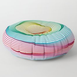 Shifting Circles Floor Pillow