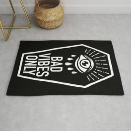 Bad Vibes Only Rug