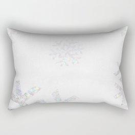 Snowflake Glitter Rectangular Pillow