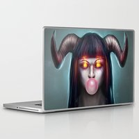 bubblegum Laptop & iPad Skins featuring BubbleGum by noistromo
