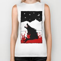 werewolf Biker Tanks featuring Werewolf by FROM THE ABYSS TO THE STARS