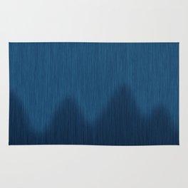 Wavy Digital Denim Blue Jean Pattern Rug