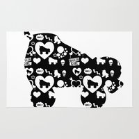 roller derby Area & Throw Rugs featuring Roller Derby Skate Print by Mean Streak