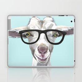 Goat with Glasses, Cute Farm Animal Laptop & iPad Skin