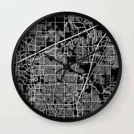 plano map texas Wall Clock