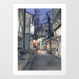 Tokyo at Night #04 Art Print