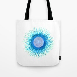 Blue Button Jellyfish  Tote Bag